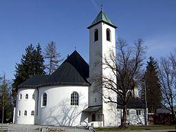 Saint Otto church (Ottobrunn), as seen from the east