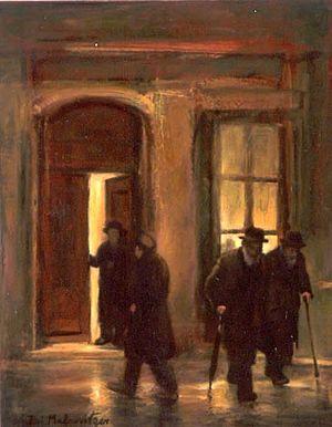 """Zvi Malnovitzer - """"Out of the Synagogue"""" (2007) by Zvi Malnovitzer."""