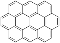 Structural formula of ovalene