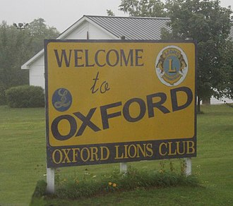 Oxford, Wisconsin - Image: Oxford Wisconsin Welcome Sign