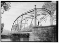 PERSPECTIVE FROM NORTHEAST. - Pine Creek Bridge, River Road spanning Pine Creek, Jersey Shore, Lycoming County, PA HAER PA-614-13.tif