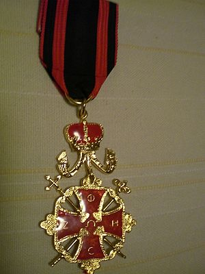 Patriarchal Order of the Holy Cross of Jerusalem - Image: POHCG Knight cross recto