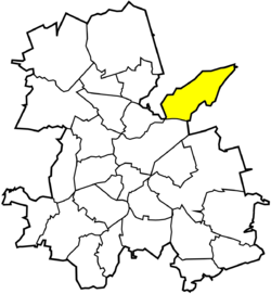Location of Kamień within Rybnik