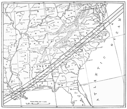 PSM V57 D011 Total eclipse track of may 28 1900 over usa.png