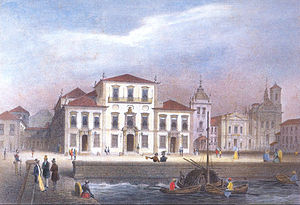 Manuel Marques de Sousa, Count of Porto Alegre - Rio de Janeiro, capital of the Empire of Brazil, with the City Palace at the center