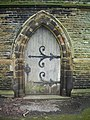 Padiham Parish Church Cemetery, Chapel, Doorway - geograph.org.uk - 755028.jpg