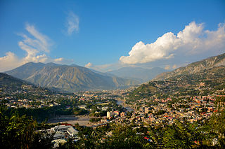 Muzaffarabad City in Pakistan