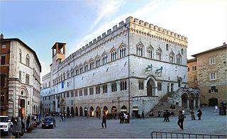 Palazzo dei Priori historic palace in Perugia, Umbria, Italy