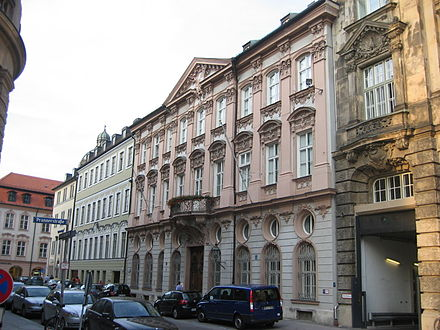 Palais Holnstein in Munich, the residence of Benedict as Archbishop of Munich and Freising Palais Holnstein Munich.JPG