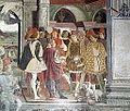Palazzo schifanoia, salone dei mesi, 04 aprile (f. del cossa), Borso assiste al Palio di San Giorgio e dà moneta al buffone Scoccola 02.JPG