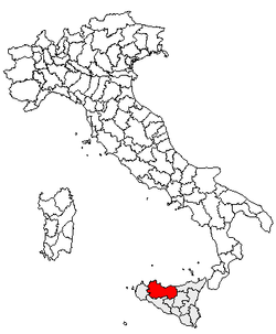 Location of Province of Palermo