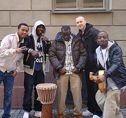 """Panetoz från videoinspelningen till """"Mama Africa"""""""