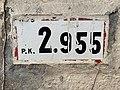 Panonceau PK 2,955 Route N79 Route Madeleine Replonges 2.jpg