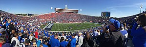 Liberty Bowl Memorial Stadium - Panorama of Liberty Bowl Memorial Stadium, Memphis, Tennessee, Oct 2015