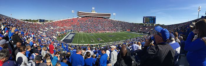 Panorama Of Liberty Bowl Memorial Stadium Memphis Tennessee Oct 2017