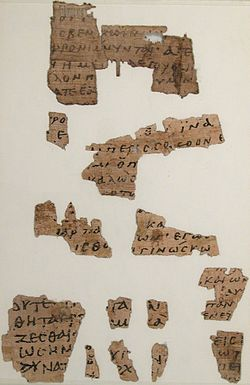 Fragments containing Matthew 25:8-10; John 10:8-14.