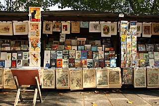 booksellers of used and antiquarian books who ply their trade along large sections of the banks of the Seine, in Paris