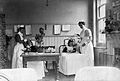 Part of a children's ward in a hospital with two nurses atte Wellcome L0025625.jpg