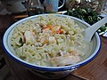 Pasta soup with seafood and pork in close up.jpg