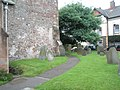 Path around the church at St Dubricius, Porlock - geograph.org.uk - 926396.jpg