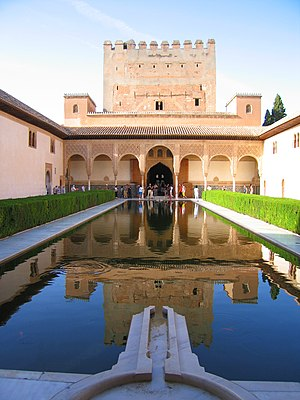 The reflecting pool in the Patio de los Arraya...