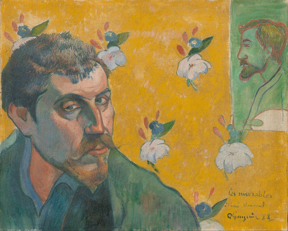 Autoportrait de Paul Gauguin au Van Gogh Museum d'Amsterdam (1888).