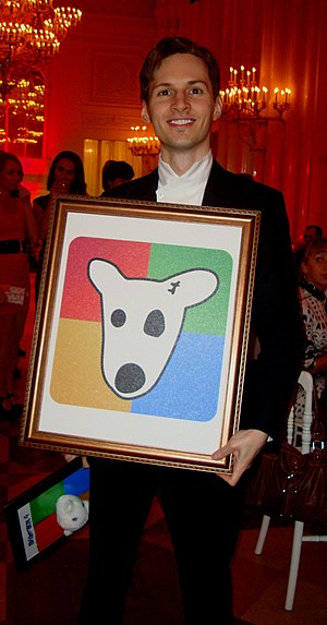 VK (social networking) - Pavel Durov, the founder of VKontakte, on his 26th birthday, 10 October 2010.