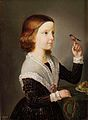 Pavel Künl - Portret deklice s ptičem in sadjem.jpg