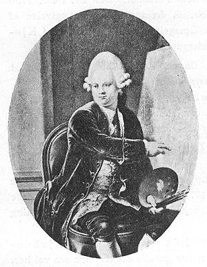 """Peder Als - Portrait of Peder Als from """"Det Danske Frimureries Historie"""", volume 1 by Karl Ludvig Tørrisen Bugge."""