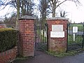 Pedestrian entrance to 'The Meadows' in Alvechurch, Worcestershire. - geograph.org.uk - 584708.jpg