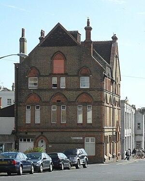 Pelham Institute - The north (Montague Street) elevation