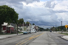 Pellston Michigan Downtown Looking South US31.jpg