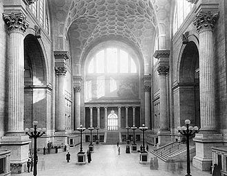 Pennsylvania Station (New York City) - Penn Station main waiting room, 1911