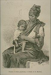 Mutter mit kind taiwan 1875