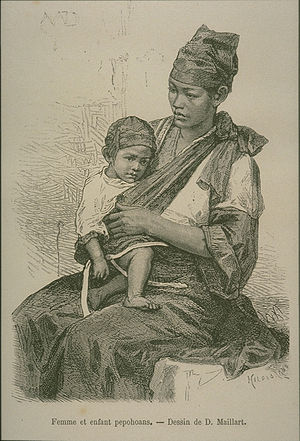 Taiwanese Plains Aborigines - Taiwanese Plains aboriginal mother and child