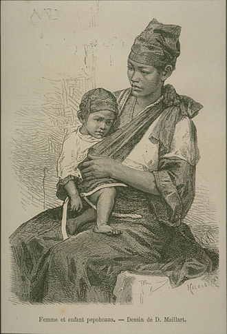 Taiwanese Plains Aborigines - Taiwanese Plains aboriginal mother and child