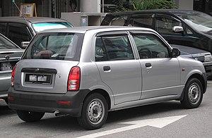 Perodua Kelisa - Image: Perodua Kelisa (first facelift, basic) (rear), Kuala Lumpur