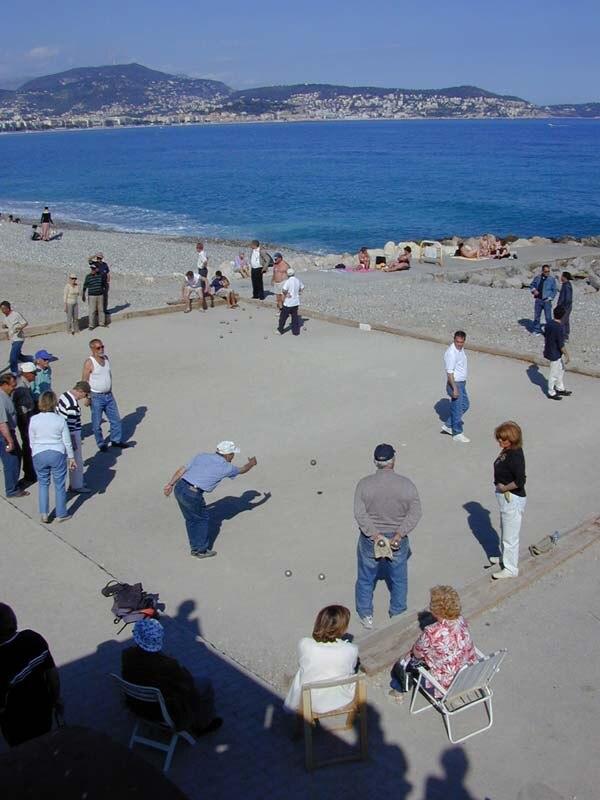 Petanque on a beach of Nice