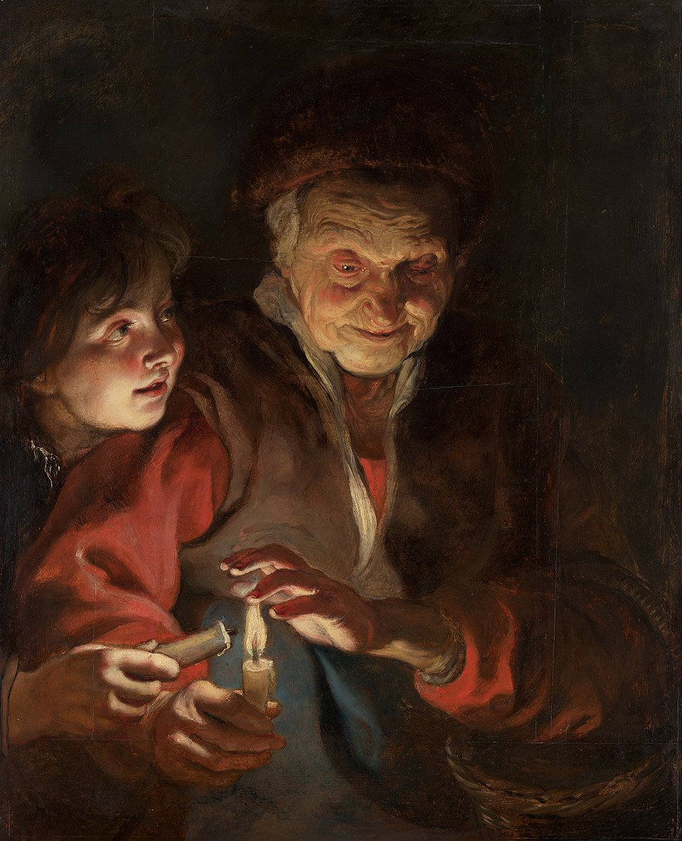 Peter Paul Rubens - Old Woman and Boy with Candles
