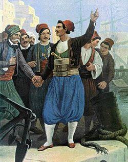 Ο Αντώνης Οικονόμου κηρύσσει την επανάσταση στην Ύδρα