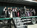Petersfield Theatre Group performing on a lorry - geograph.org.uk - 1251754.jpg