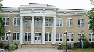 National Register of Historic Places listings in Coffee County, Georgia - Image: Peterson Hall, South Georgia State College, Douglas, GA, US
