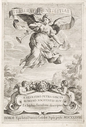 Silvester Petra Sancta - Fontispiece, Petra Sancta Tesserae gentilitiae 1638