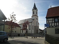 Pfarrkirche St. Bartholomäus, Kist (Germany), von Osten.JPG