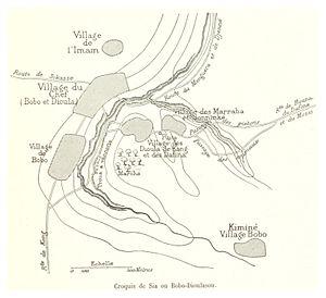 Bobo-Dioulasso - Map of Bobo-Dioulassou, 1892