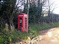 Phone box at Westhope - geograph.org.uk - 1073121.jpg