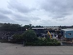 Photograph of the aftermath of the fire at the Jayplas recycling site in Smethwick, West Midlands taken 02-07-2013 2013-07-02 19-44.jpg
