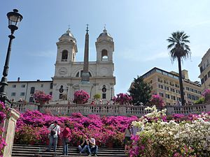 "English: The Spanish Steps and ""Trinita d..."