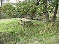 Picnic bench next to Broadhead Brook - geograph.org.uk - 589997.jpg