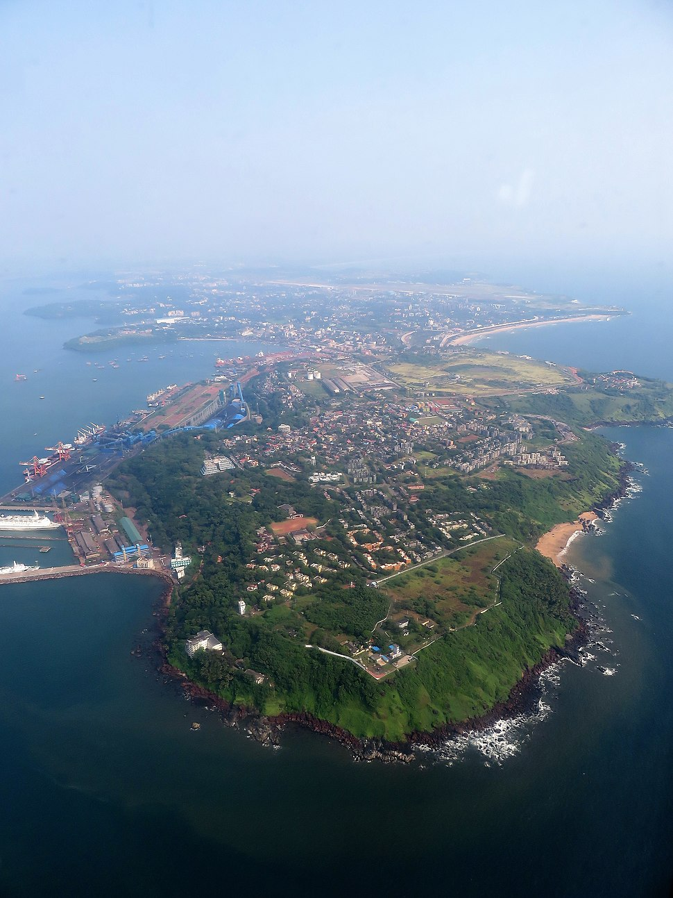 Picture of GOA taken from an air craft's window